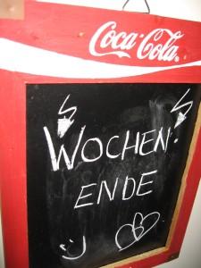 Unser Chalkboard (glaub das heißt Notiztafel)