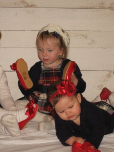 Unsere Mädels beim Weihnachtsfotoshooting