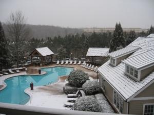 Es fängt an zu schneien...gestern mittag